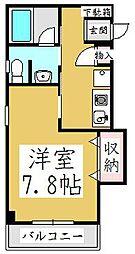 埼玉県川口市鳩ヶ谷緑町2丁目の賃貸マンションの間取り