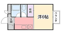 兵庫県西宮市津門川町の賃貸アパートの間取り