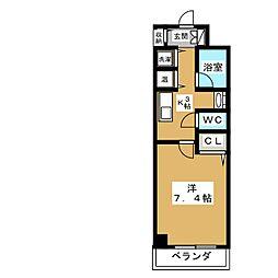 AKATSUKIII[4階]の間取り