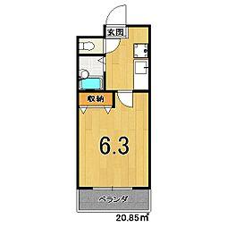 Casa Felice[303号室]の間取り