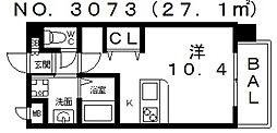 ヴィラルーチェ[501号室号室]の間取り