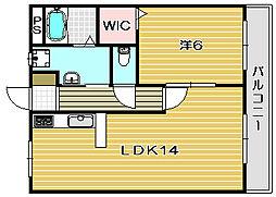 中西マンション[2階]の間取り