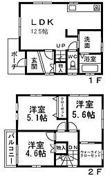 [一戸建] 大阪府四條畷市二丁通町 の賃貸【/】の間取り
