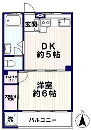 千代田ハイツ[3階]の間取り