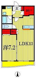 グランメゾンエムズ 2階1LDKの間取り