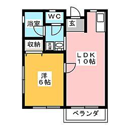 ハッピータウン[2階]の間取り