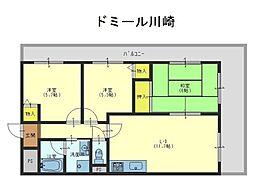 ドミール川崎[4階]の間取り