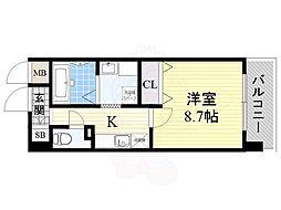 JR東海道・山陽本線 岸辺駅 徒歩3分の賃貸マンション 1階1Kの間取り