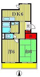ボヌールメゾンオジマ[305号室]の間取り