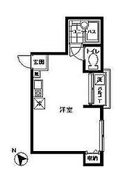 東京都新宿区赤城下町の賃貸アパートの間取り