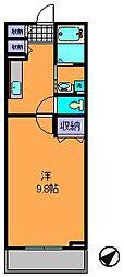 奈良県生駒市辻町の賃貸アパートの間取り
