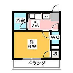 壱番館[5階]の間取り