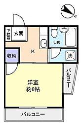 ハウスレガロ[3階]の間取り
