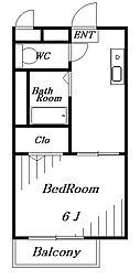 ユタカハイム[2階]の間取り