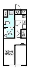 WOODNOTEII[2階]の間取り