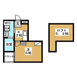 WEST9 Mirror 1号館[2階]の間取り