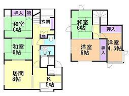 JR室蘭本線 崎守駅 徒歩29分の賃貸一戸建て 1階5LDKの間取り