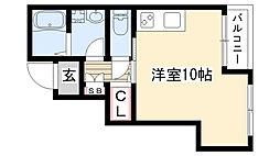 愛知県名古屋市名東区松井町の賃貸アパートの間取り