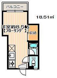 パールエム別府[4階]の間取り