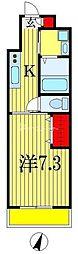 PARTENZA広小路(パルテンツァ) 1階1Kの間取り