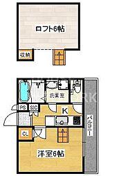 ロフティ東本願寺[102号室号室]の間取り