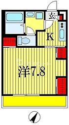 リブリ・グランテージ 3階1Kの間取り