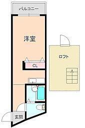 大阪府豊中市本町1丁目の賃貸マンションの間取り