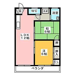 八事ビル[3階]の間取り