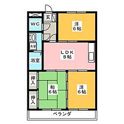 メゾン徳II[2階]の間取り