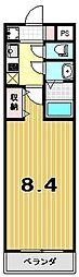 プリモベント円町[4階]の間取り
