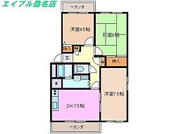 三重県桑名市長島町押付の賃貸マンションの間取り
