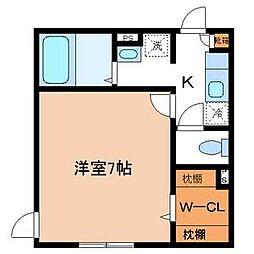 東京都江東区北砂4丁目の賃貸アパートの間取り