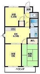 愛知県豊田市桝塚西町郷西の賃貸アパートの間取り