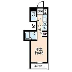 コスモピア[4階]の間取り