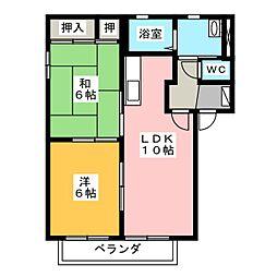 クレアールI・II[2階]の間取り