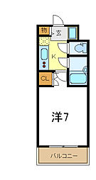 JR山陽本線 東加古川駅 徒歩2分の賃貸マンション 10階1Kの間取り