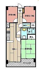 トーカンマンション高炉台公園[1002号室]の間取り