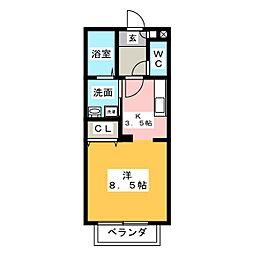 金谷一番館[1階]の間取り