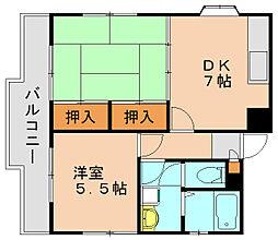 コーポ多の津[1階]の間取り