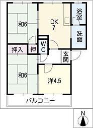 サンハイム鈴木[2階]の間取り