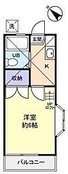 ガーデンテラス津田沼[2階]の間取り
