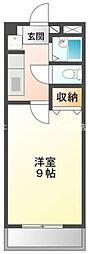 岡山県総社市溝口丁目なしの賃貸マンションの間取り