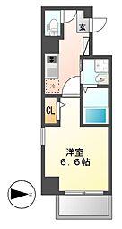 Z・R名駅[4階]の間取り