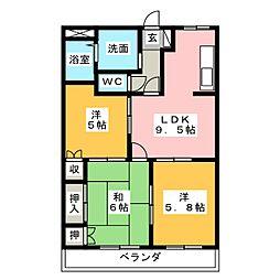 エルセンチュリー21[2階]の間取り