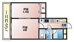 プランドールボナール[3階]の間取り