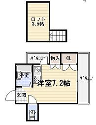 ニューハイツ桜4[2階]の間取り