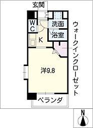 ブルーム名駅[3階]の間取り