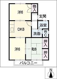 エクセルタウン高根台D棟[2階]の間取り