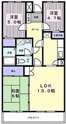 ルミナス藤[4階]の間取り