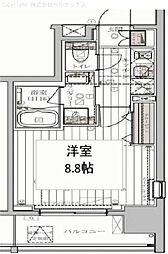 東京都江東区北砂の賃貸マンションの間取り
